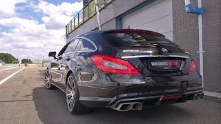 Download BRABUS 850 6.0 Biturbo CLS Shooting Brake - Brutal SOUNDS! Video