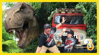 Download Jurassic Park T-Rex & Giant Life Size Dinosaurs! Islands of Adventure Universal Studios Family Video Video