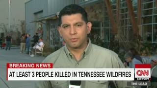 Download 3 dead in eastern Tennessee fires; Gatlinburg under curfew Video