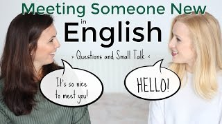 Download Meeting Someone New in English   Introductions & Small Talk Video