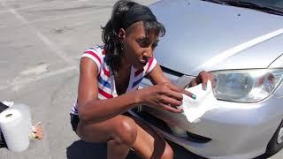Download Dorothy restoring headlights at Venice Beach Video