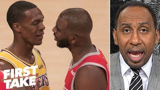 Download Rajon Rondo 'tried to get away with' spitting at Chris Paul during fight - Stephen A. | First Take Video
