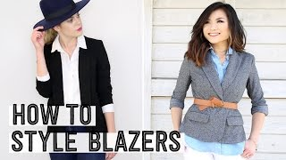 Download How to Style a Blazer | How to Wear a Blazer 4 Different Ways | Miss Louie Collab w/ Kristina Wilde Video