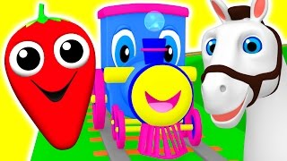 Download Learning Train | Preschool Educational Videos | Learn Colors, Fruits Animals ABC Songs BusyBeavers Video