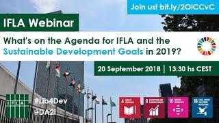 Download IFLA Webinar: The SDGs in 2019 Video
