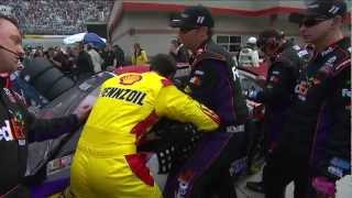 Download Joey Logano and Denny Hamlin fight at Bristol!!! Video