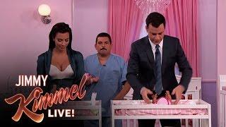 Download Kim Kardashian vs. Jimmy Kimmel - Diaper Changing Contest Video