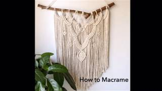 Download How to macrame wall hanging #3   Step by Step Tutorial   By TNARTNCRAFTS Video