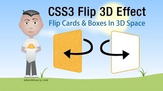 Download CSS3 Flip 3D Animation For Boxes and Cards HTML5 Tutorial Video