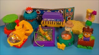 Download 2003 THE RUGRATS GO WILD SET OF 8 BURGER KING KID'S MEAL MOVIE TOY'S VIDEO REVIEW Video