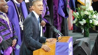 Download My View - POTUS Obama singing Amazing Grace - Hon. Rev. Clementa C. Pinckney Funeral CHS Video