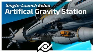 Download KSP - SINGLE LAUNCH Eeloo Artificial Gravity Station! [10000 sub special] Video