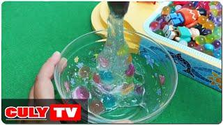 Download hướng dẫn làm chất nhờn ma quái trong suốt và bi nước - how to make slime water beads Video