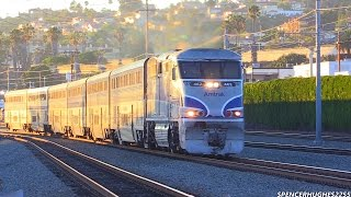 Download Amtrak Train ride from San Juan Capistrano to San Diego + BNSF & Coaster Trains (August 16th, 2014) Video
