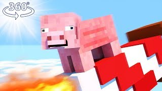 Download PIGS CAN FLY?! - Minecraft Roller Coaster - 360° Minecraft Video Video
