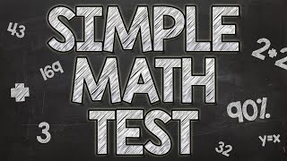 Download Simple Math Test - 90% fail Video