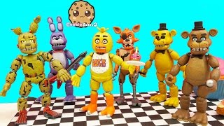 Download Complete Set Of Five Night's At Freddy's Funko Action Figures + Bonus Spring Trap Video