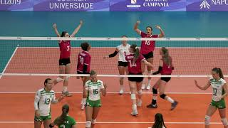 Download Women's volleyball loses to Hungary in quarter-final at 2019 Universiade Video