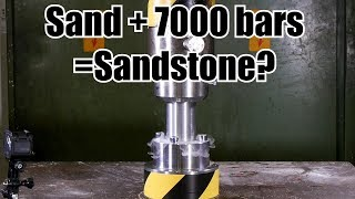 Download Making Sandstone from Sand with Hydraulic Press Video