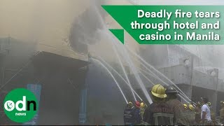 Download Deadly fire tears through hotel and casino in Manila Video
