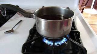 Download Making coffee without a coffee maker. A pot, a cheese cloth and a heat source is all you need. Video