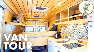 Download Super Smart Camper Van Design with Lots of Great Ideas! Full Tour Video