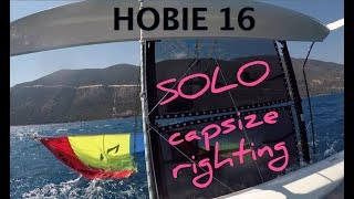 Download HOBIE 16 capsize righting SOLO is it possible? Video