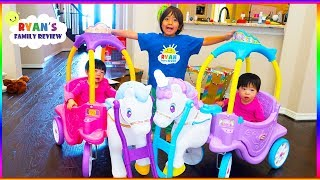 Download Little Tikes Magical Unicorn Carriage Ride On + Princess Horse and Carriage Video