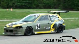 Download Very fast HONDA CIVIC K-24 by R-PERFORMANCE.CH - Time Attack Slalom Frauenfeld 2011 - cool sound Video