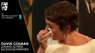 Download Olivia Colman's Emotional Reaction Backstage to Winning Leading Actress | EE BAFTA Film Awards 2019 Video