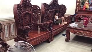 Download Bộ Bàn Ghế CỬU LONG BÁT TIÊN HƯƠNG LÀO 12 món | DogobaoLoc Video