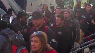 Download Arkansas State Red Wolves Football Team Arrives Into Montgomery AL For Camellia Bowl (2017) Video