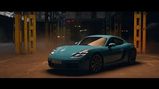 Download Race drones vs. Porsche 718 Cayman Video
