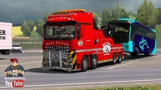 Download [ETS2] MB Actros Crane Truck & Cargo Pack + Cabin DLC ready Video