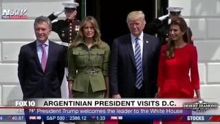Download WATCH: President Trump & Melania Welcome Argentina President Mauricio Macri and Wife to White House Video