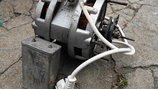 Download Как подключить двигатель от старой стиральной машины через конденсатор или без него Video