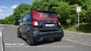 Download BRABUS Ultimate 125 based on smart fortwo with valve controlled exhaust Video