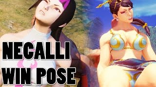 Download STREET FIGHTER 5 - NECALLI WIN POSE on ALL Characters + JURI 1080P Full HD 60fps Video