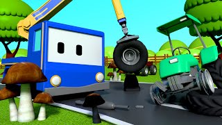 Download Mushroom Picking - Tiny Trucks for Kids with Street Vehicles Bulldozer, Excavator & Crane Video