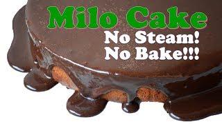 Download Experiment NO BAKE NO STEAM Milo Cake with Ganache | It's More Fun in the Kitchen Video