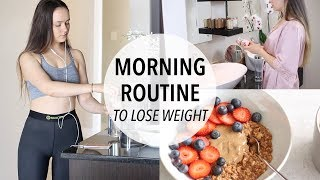 Download MY MORNING ROUTINE TO LOSE WEIGHT + HEALTHY BREAKFAST IDEA! Video
