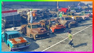 Download GTA ONLINE ″LOW LIFE″ FREEMODE NO MONEY SPECIAL - RARE RUSTY GTA 5 VEHICLES, OLD SCHOOL CARS & MORE! Video