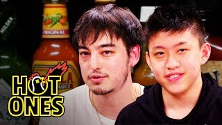 Download Joji and Rich Brian Play the Newlywed Game While Eating Spicy Wings | Hot Ones Video