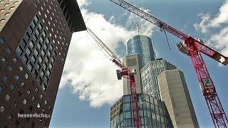 Download Frankfurt: Kran im Bankenviertel droht umzukippen Video