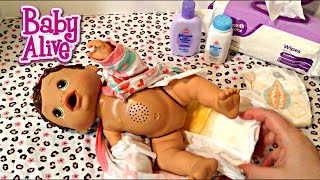 Download Baby Alive Changing Time Doll Olivia's Feeding and Changing Video Video