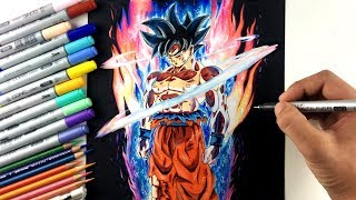 Download Drawing Goku NEW FORM Ultra Instinct | Limit Breaker Video