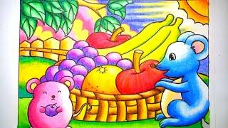 Cara Menggambar Dan Mewarnai Gradasi Oilpastelcrayon Panen Apel