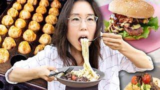 Download Weekend Night Market 🍔 Street Food in Korea Video