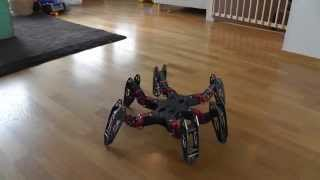 Download Hexapod Robot that can flip - Fast Walking - PhantomX running Phoenix code Video