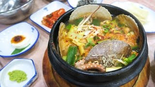 Download Korean Seafood Soup in Busan ♦ Exploring Haeundae Beach Video